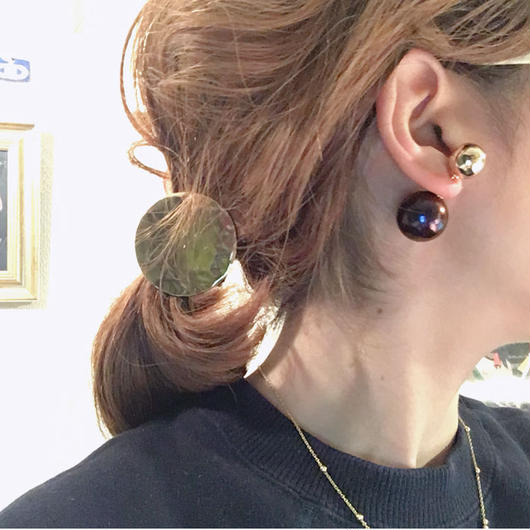 BOUTIQUE  cosmo pieaced earrings  /COSMO BLUE X GOLD