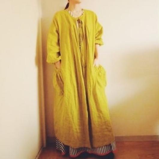 BOUTIQUE X AOYA L  linen atelier coat(割烹着) TA-AP-02