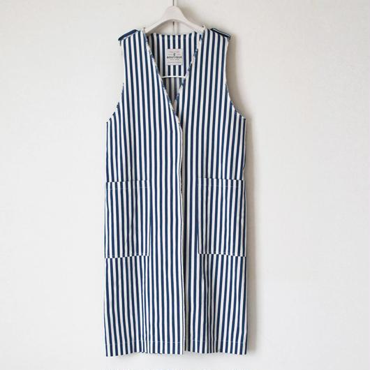 BOUTIQUE cotton linen stripe vest TVE-3200
