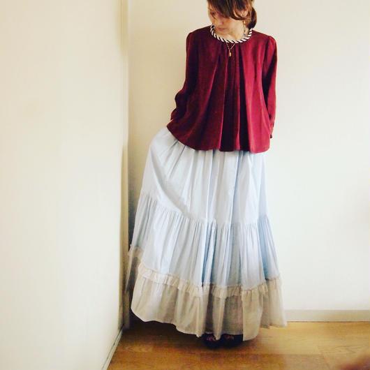 VACANCES cotton film skirt TC-3102