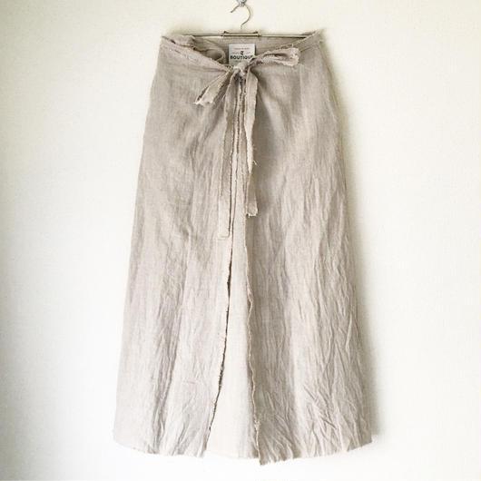 終了しました【予約販売】 BOUTIQUE  linen  wrap skirt  TC-3500'