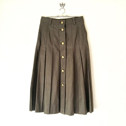 VACANCES  cotton backsatin  pleats skirt   TC-2700 / KHAKI
