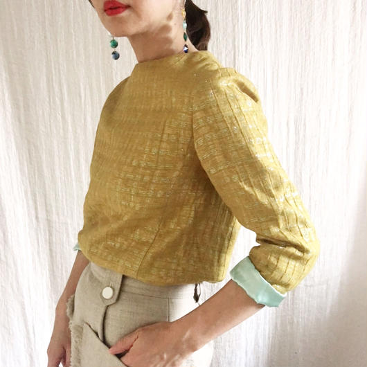 BOUTIQUE   rame jacquard tops /MUSTARD