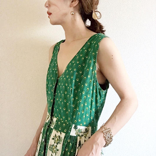 VINTAGE province print dress