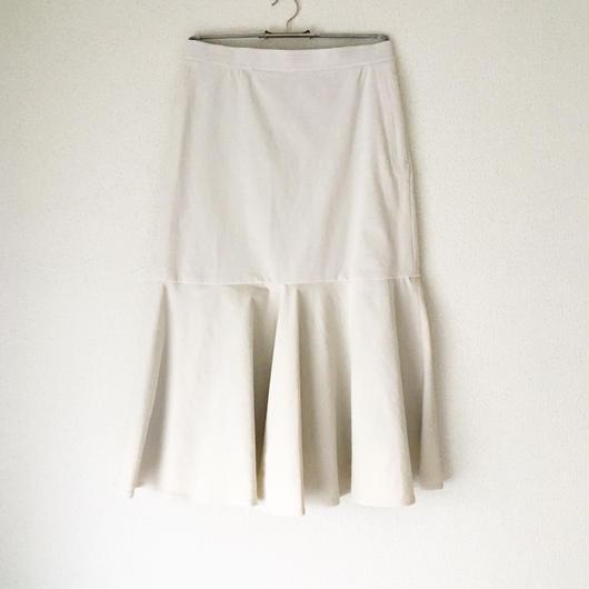 BOUTIQUE  corduroy skirt /OFF WHITE