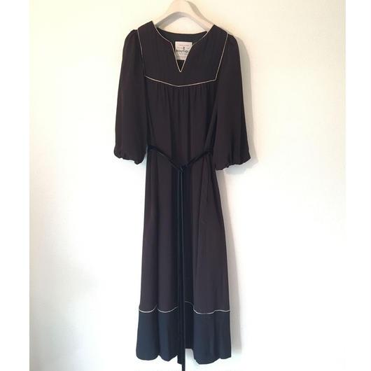 BOUTIQUE silK de chine dress TE-3402/BLACK(DOT)