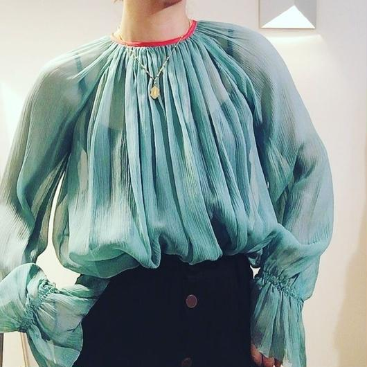 《予約販売》BOUTIQUE silk crepe tops TG- 3200 /GREEN