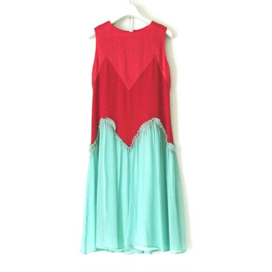 BOUTIQUE silk crepe dress TE-3200   /   GREENXRED