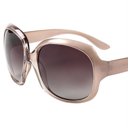 レディース サングラス バタフライ UV400 紫外線 カット率99.9 % UVカット 偏光レンズ (1シャンパン)