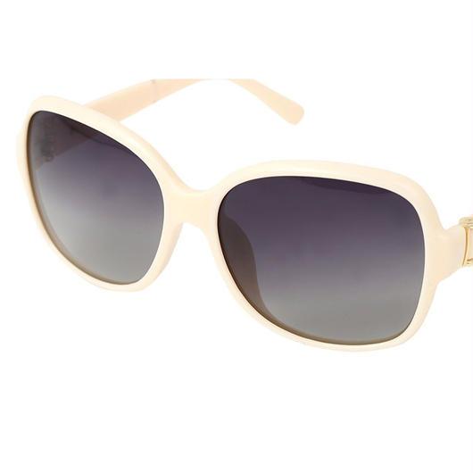 レディース サングラス バタフライ UV400 紫外線 カット率99.9 % UVカット 偏光レンズ  (4ホワイト)