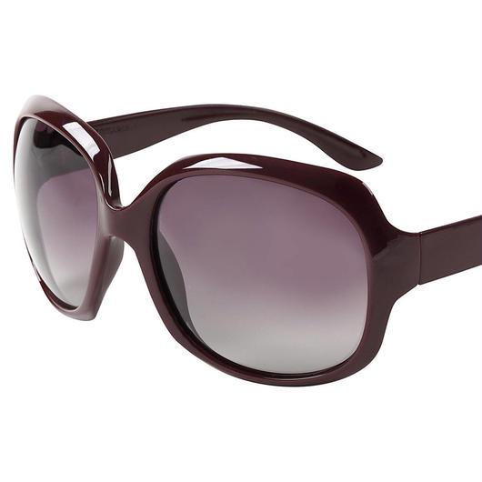 レディース サングラス バタフライ UV400 紫外線 カット率99.9 % UVカット 偏光レンズ (1ワインレッド)