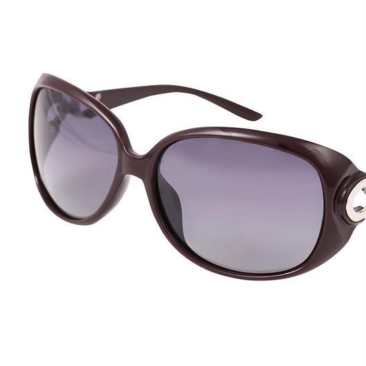 レディース サングラス バタフライ UV400 紫外線 カット率99.9 % UVカット 偏光レンズ (2ワインレッド)