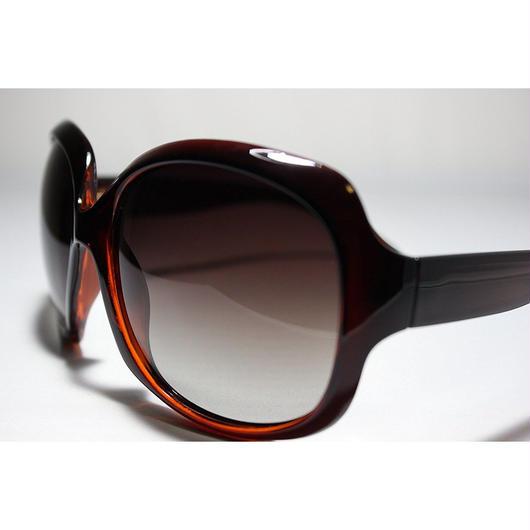 レディース サングラス バタフライ UV400 紫外線 カット率99.9 % UVカット 偏光レンズ (1ダークブラウン)
