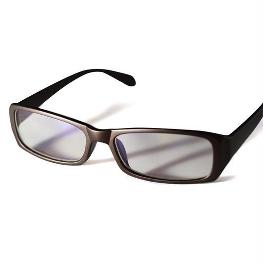 パソコンメガネ クリアサングラス ブルーライト カット サングラス ケース&眼鏡ふき 3点セット  (1ブラウン)