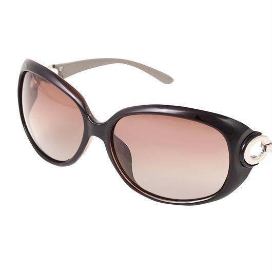 レディース サングラス バタフライ UV400 紫外線 カット率99.9 % UVカット 偏光レンズ (2コーヒー)