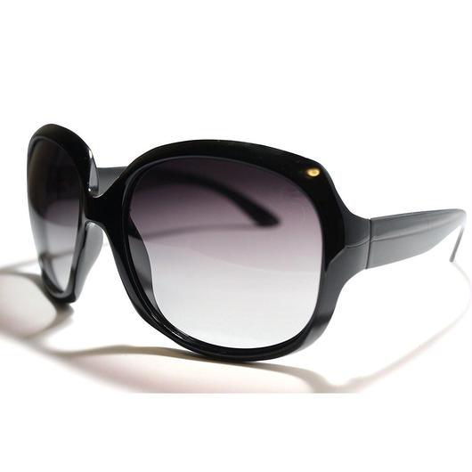 レディース サングラス バタフライ UV400 紫外線 カット率99.9 % UVカット 偏光レンズ (1ブラック)