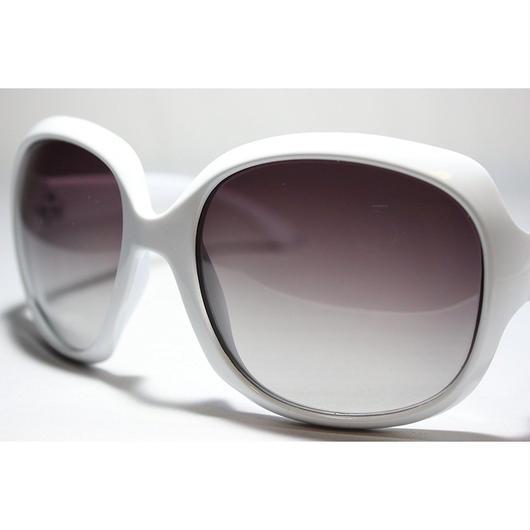 レディース サングラス バタフライ UV400 紫外線 カット率99.9 % UVカット 偏光レンズ (1ホワイト)