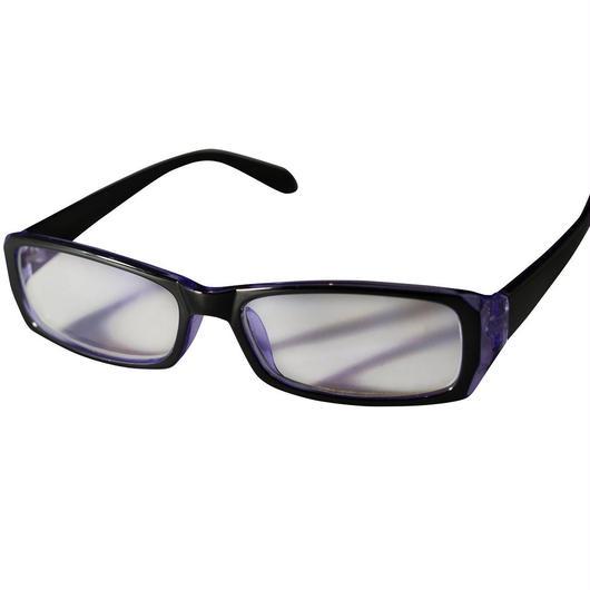 パソコンメガネ  クリアサングラス ブルーライト カット サングラス  ケース&眼鏡ふき 3点セット   (1パープル)