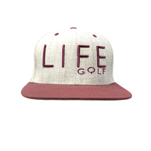 Life Golf heather/burgundy snapback