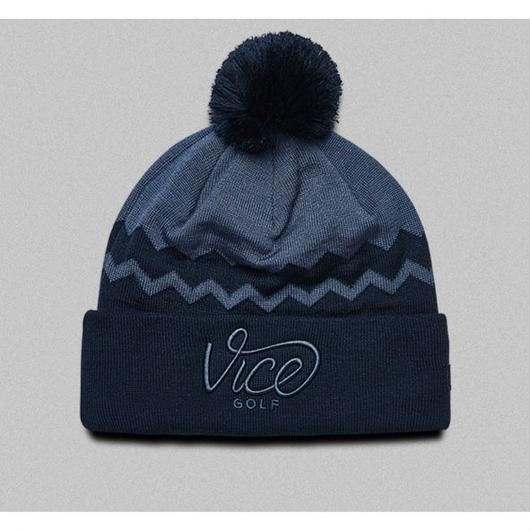 VICE GOLF-BEANIE ZIGZAG NAVY