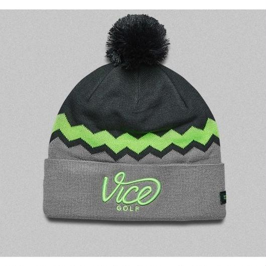 VICE GOLF-BEANIE ZIGZAG NEONLIME