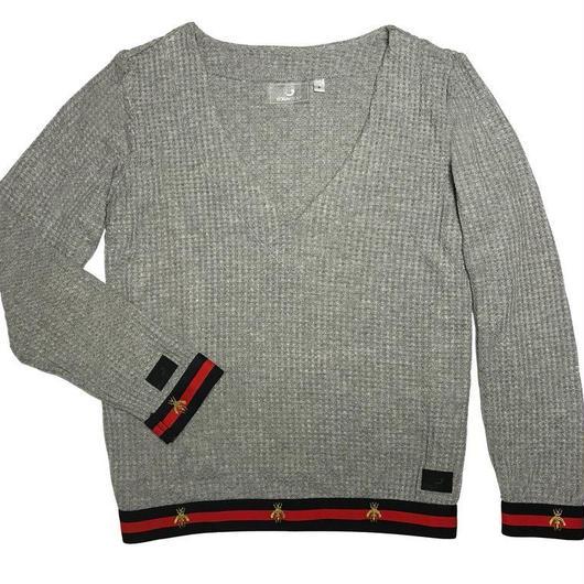 Foray Golf EAST HAMPTON GARDEN Waffle Knit Popover Sweater