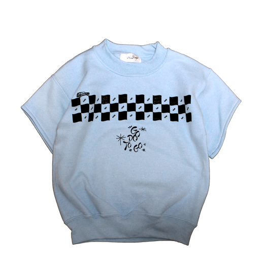 CHECKER SWEAT 【KID'S】L blue