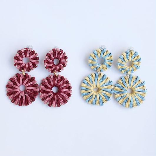 two color rattan pierce pink