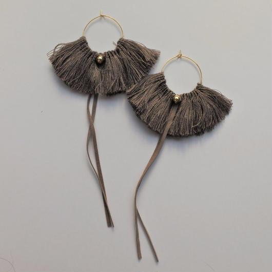 fringe hoop ear accessory #grege