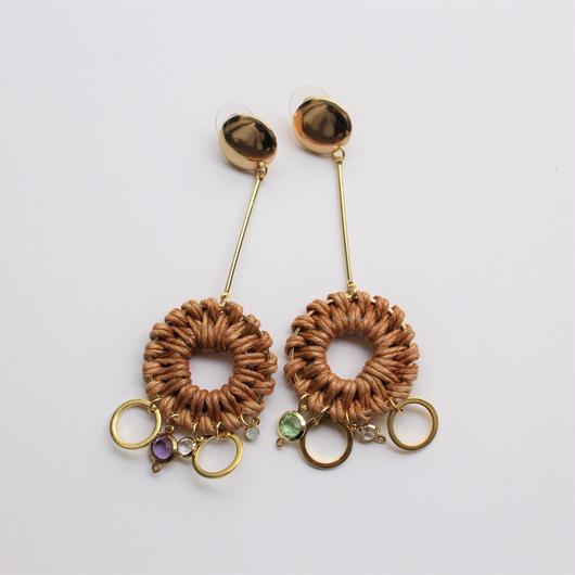 hanging rattan pierce #brown