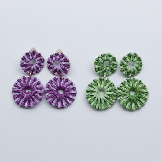 two color rattan pierce green