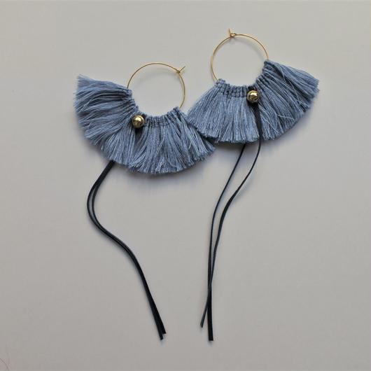 fringe hoop pierce #pail blue
