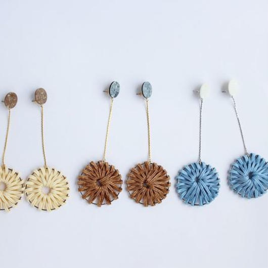 long hanging rattan pierce blue