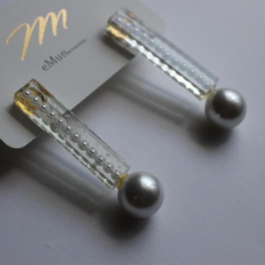 clear stick pearl pierce  パール