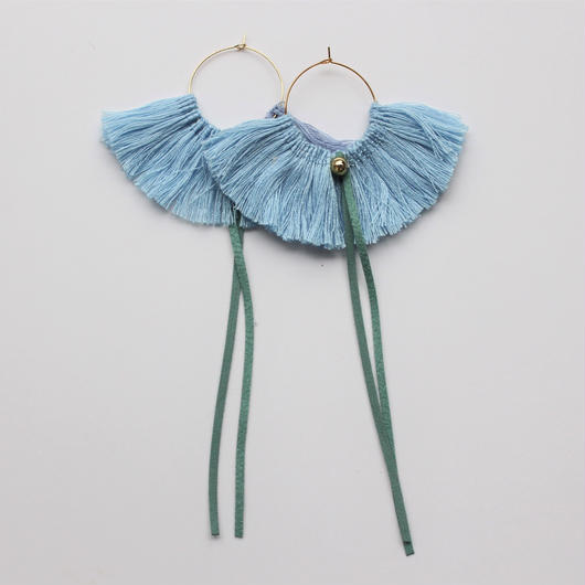 fringe hoop ear accessory #限定カラーblue