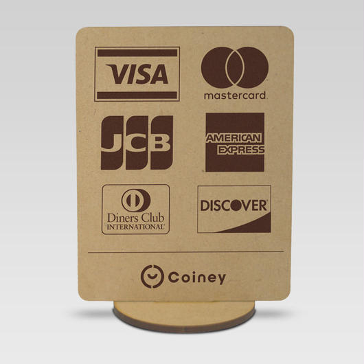 【Coiney加盟店さま限定】木製スタンドPOP - 全カードブランド