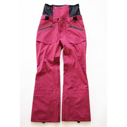 COM-06 STRAIGHT Pants. 《#5 WINERED 4way》