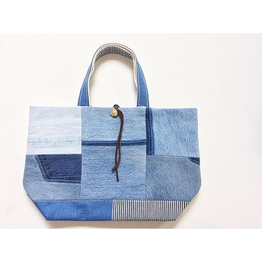 REMADE Patchwork TOTE BAG Midiam(M)Size.  DENIMパッチワーク