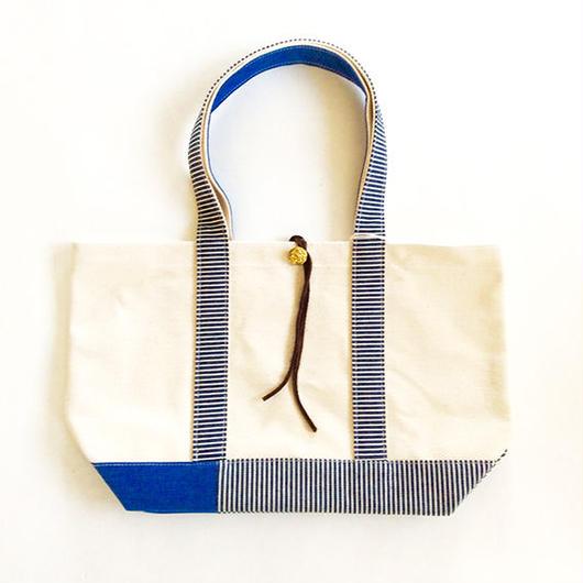 REMADE Patchwork TOTE BAG Midiam (M)Size.  国産4号帆布ヒッコリー