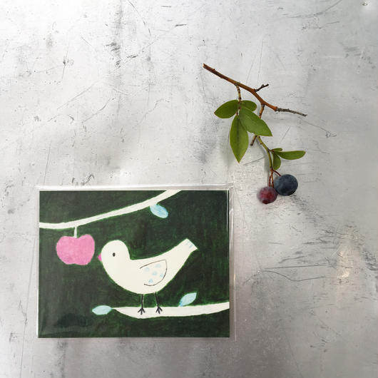 card  :::  ことりと林檎