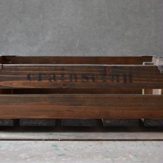 ウッドボックス M(medium brown 2)