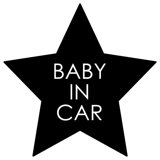 BABY IN CAR  ステッカー全12色  #星型塗シンプル塗文字