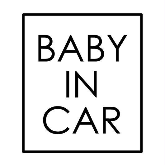 BABY IN CAR  ステッカー全12色  #スクエアシンプル文字