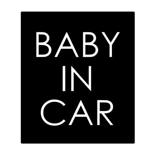 BABY IN CAR  ステッカー全12色  #スクエア塗シンプル文字