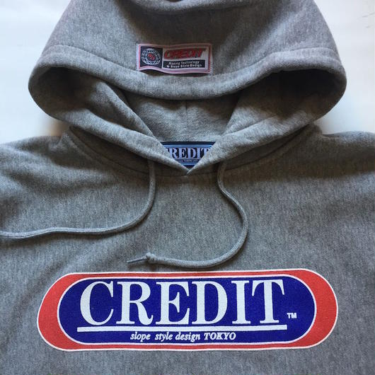 "CREDIT ""ORIGINAL LOGO HOODIE"" SWEAT・Gray"