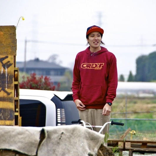 """""""CREDIT 315 WING"""" Pullover Sweat Parka・Burgundy"""