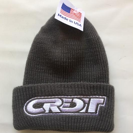 CREDIT RACING LOGO WATCH CAP・MADE IN USA  グレー