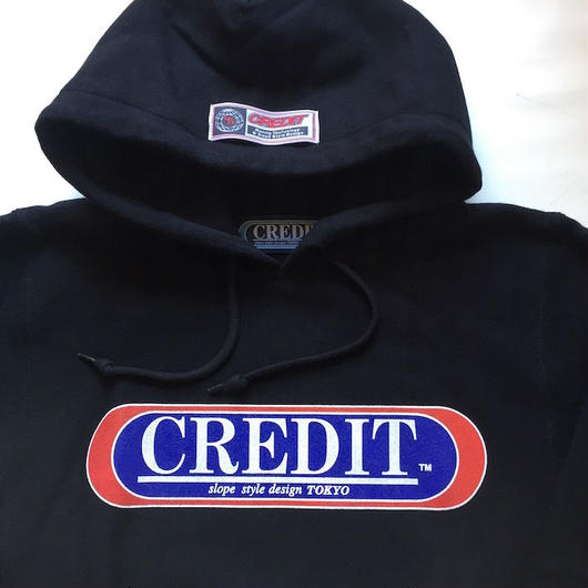 "CREDIT ""ORIGINAL LOGO HOODIE"" SWEAT・Black"