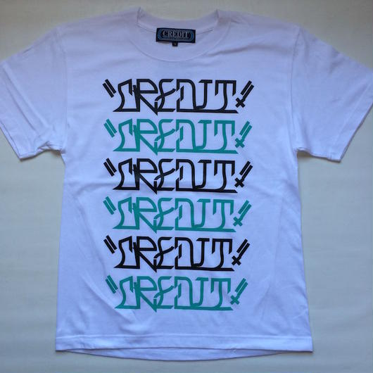 "CREDIT ""VATO TEXT"" グラフィック T-SHIRTS・White"