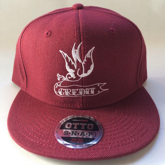 """CREDIT SWALLOW"" Snapback・Burgundy"